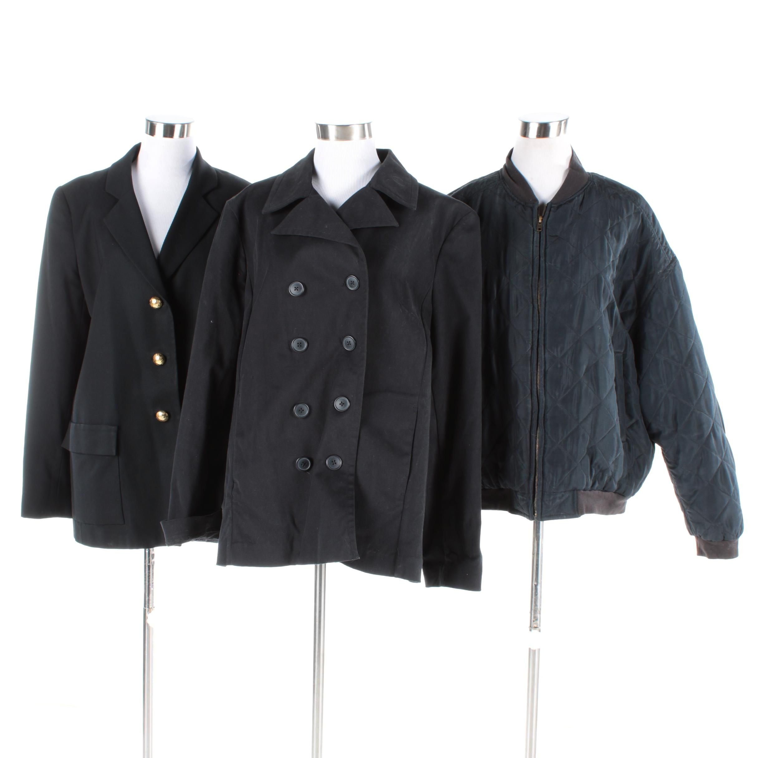 Women's Black Jackets Including Gap and David Hayes