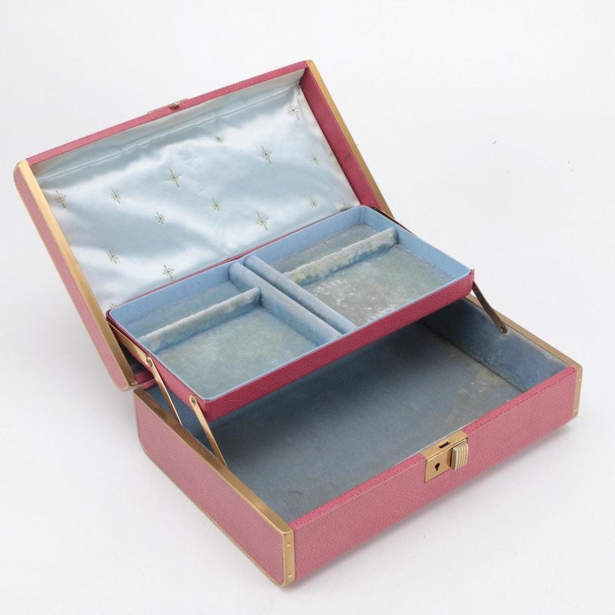 Farrington Jewelry Box Delectable Vintage Farrington Texol Jewelry Box EBTH