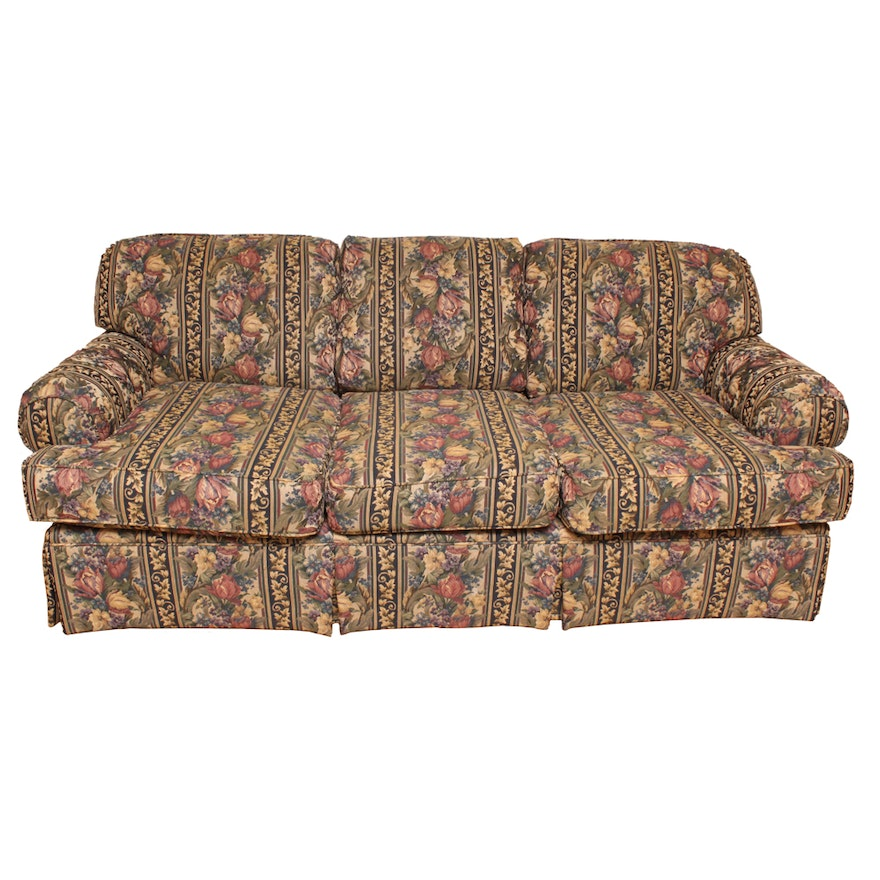 Fl Upholstered Sofa By Hickory Hill