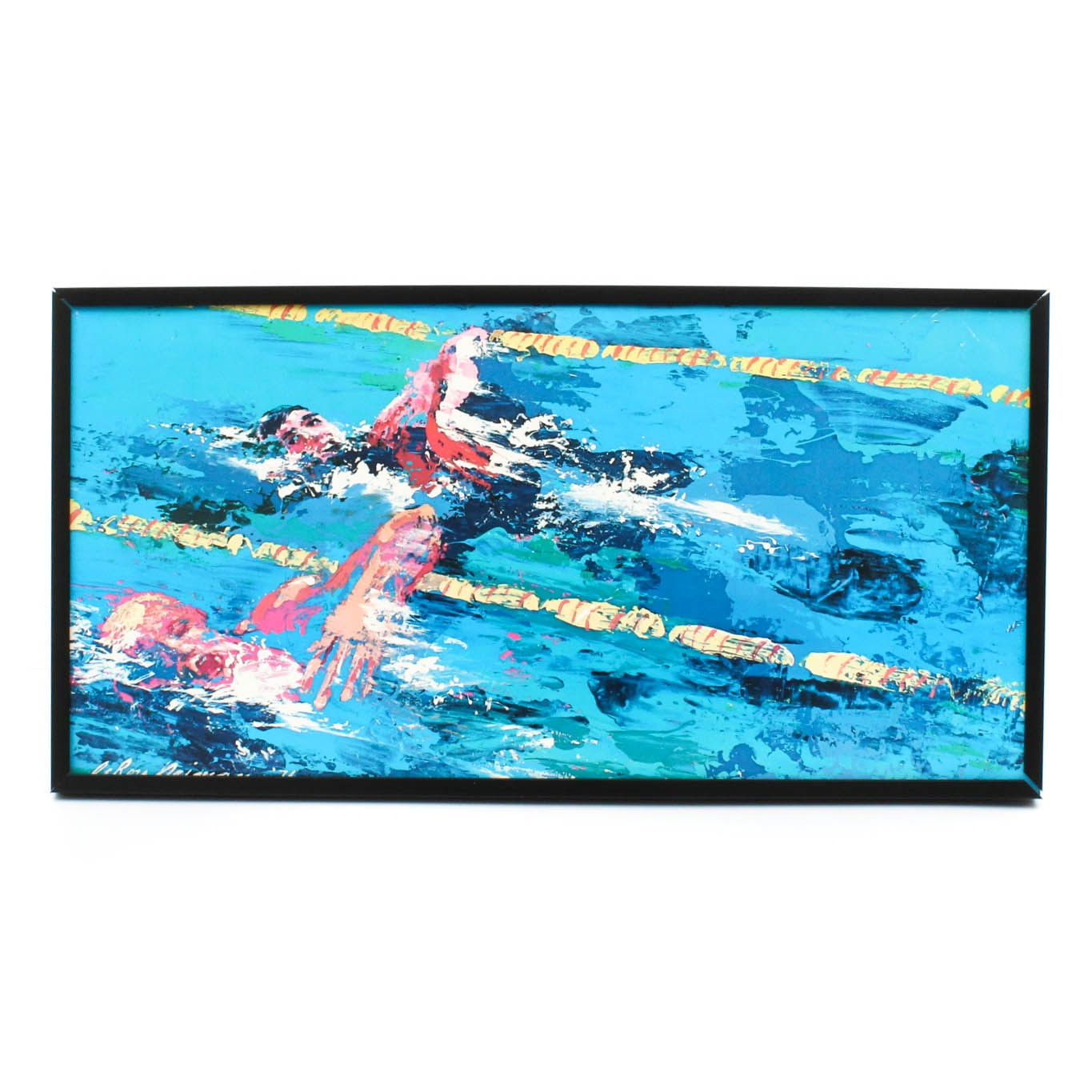 """Olympic Swimmer"" Offset Lithograph by Leroy Neiman"