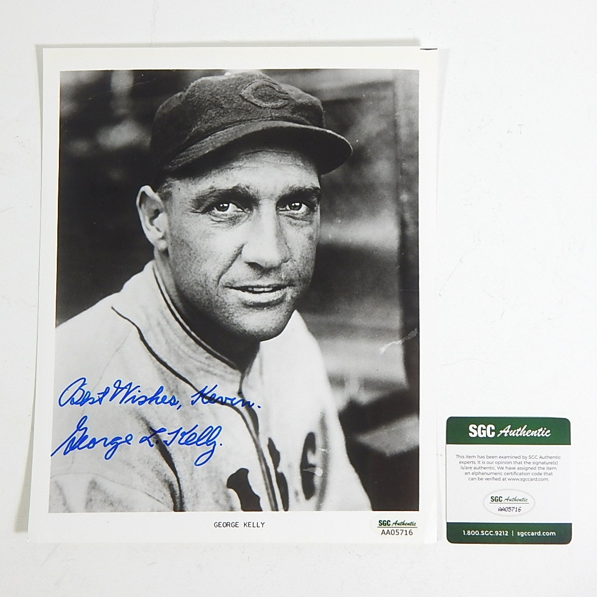SGC Authenticated George Kelly Autograph