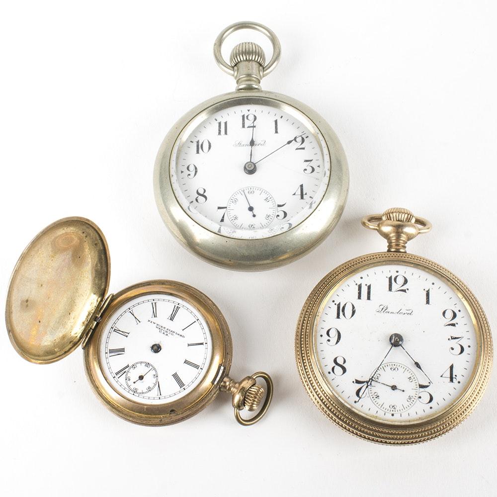"""Three Vintage """"Standard"""" Pocket Watches"""