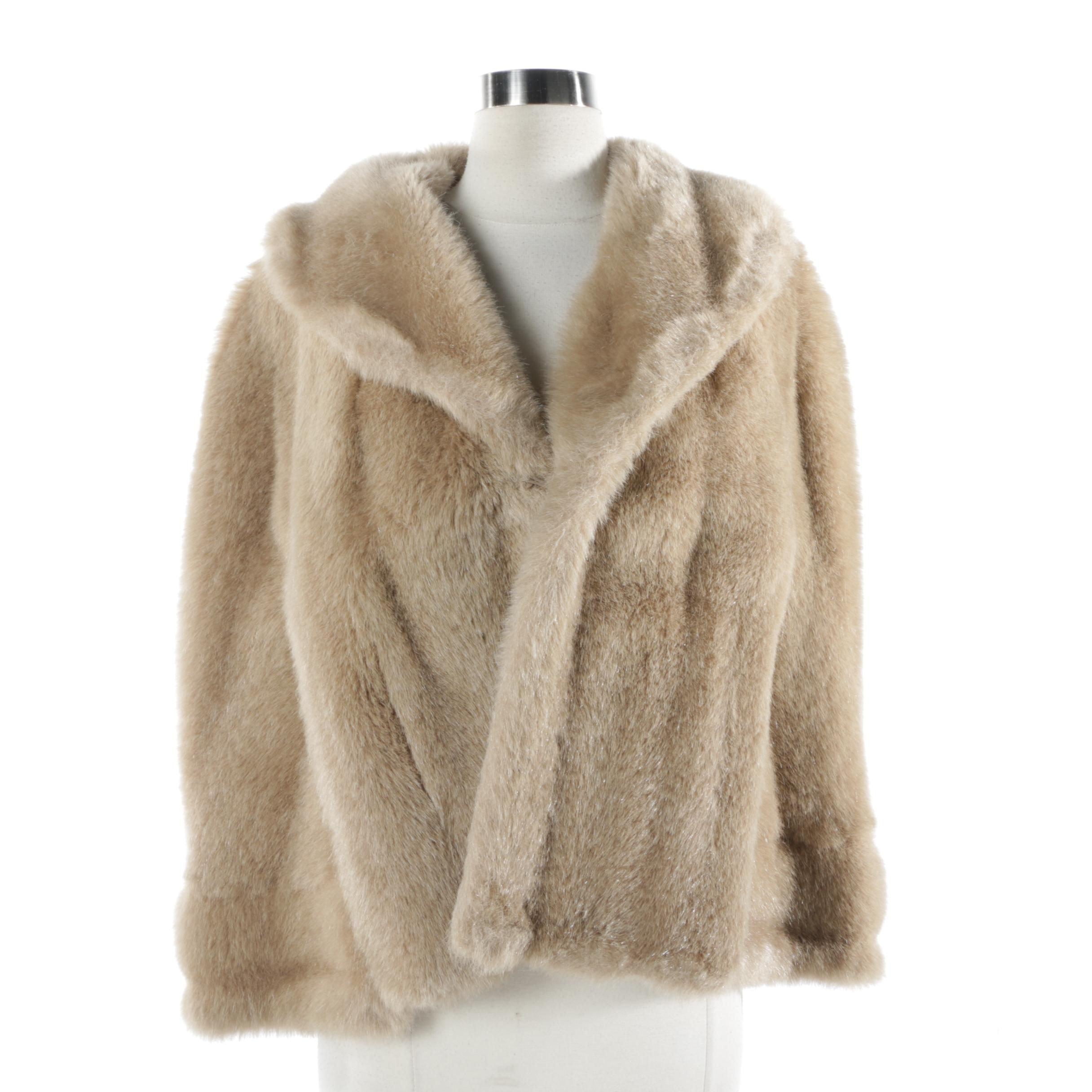 Vintage Faux Blonde Fur Cape