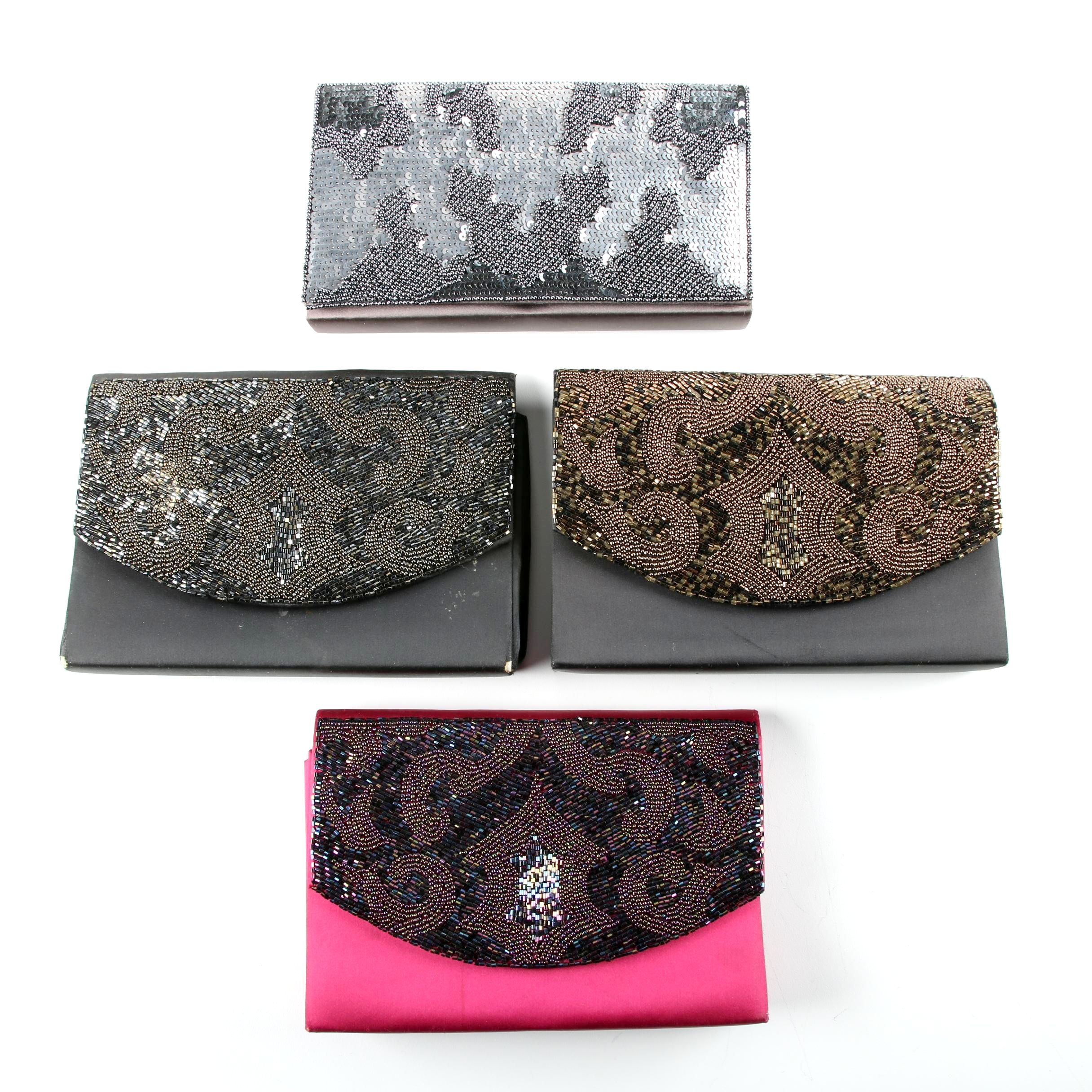 Caparros Embellished Satin Evening Clutches