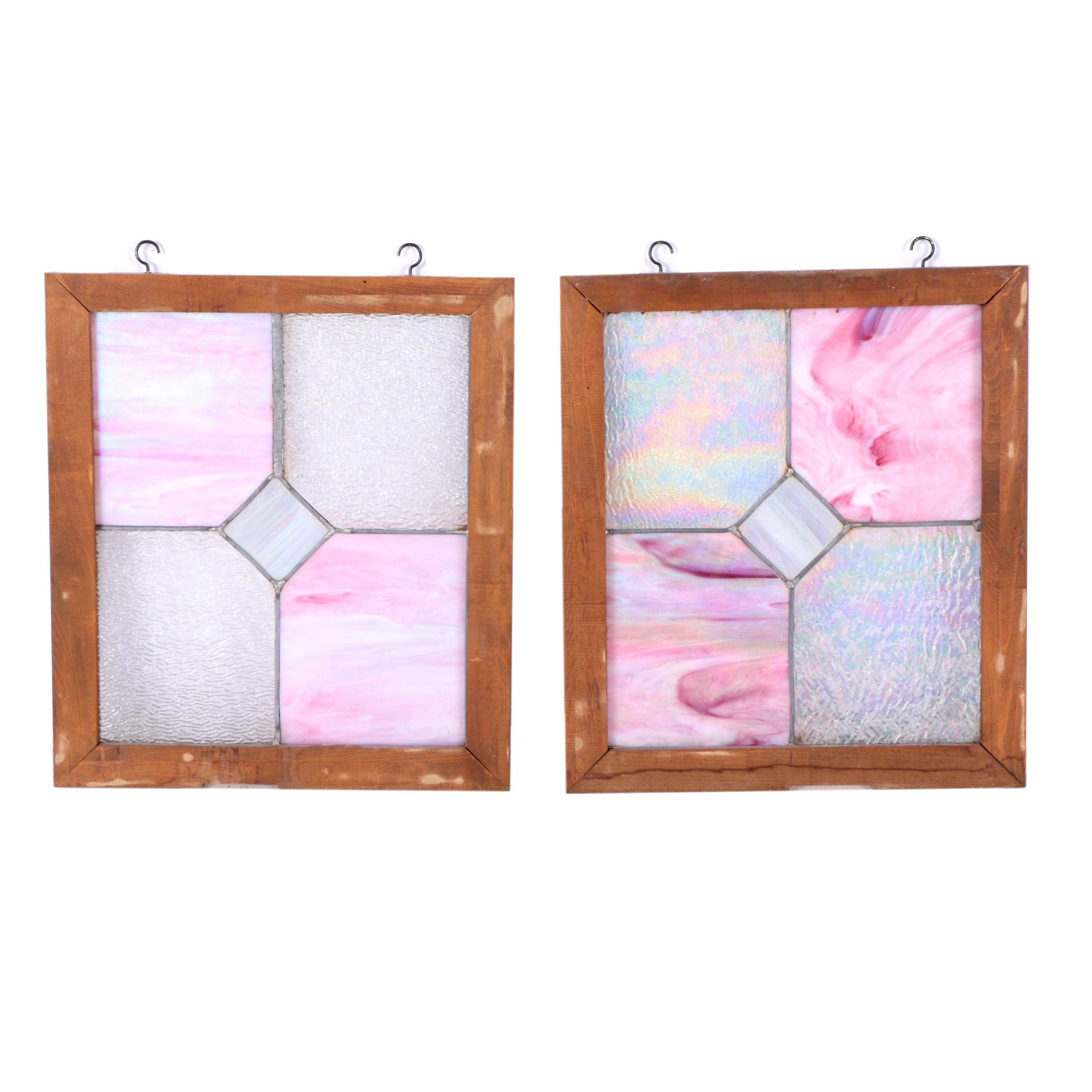 Pink Stained Glass Window Hangings