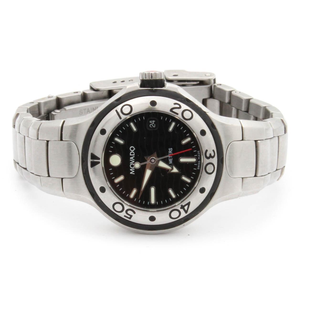 Movado Stainless Steel Swiss Quartz Wristwatch