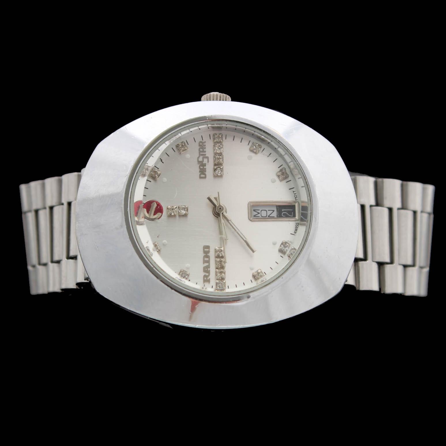 Vintage Rado Diastar Swiss Quartz Stainless Steel Wristwatch