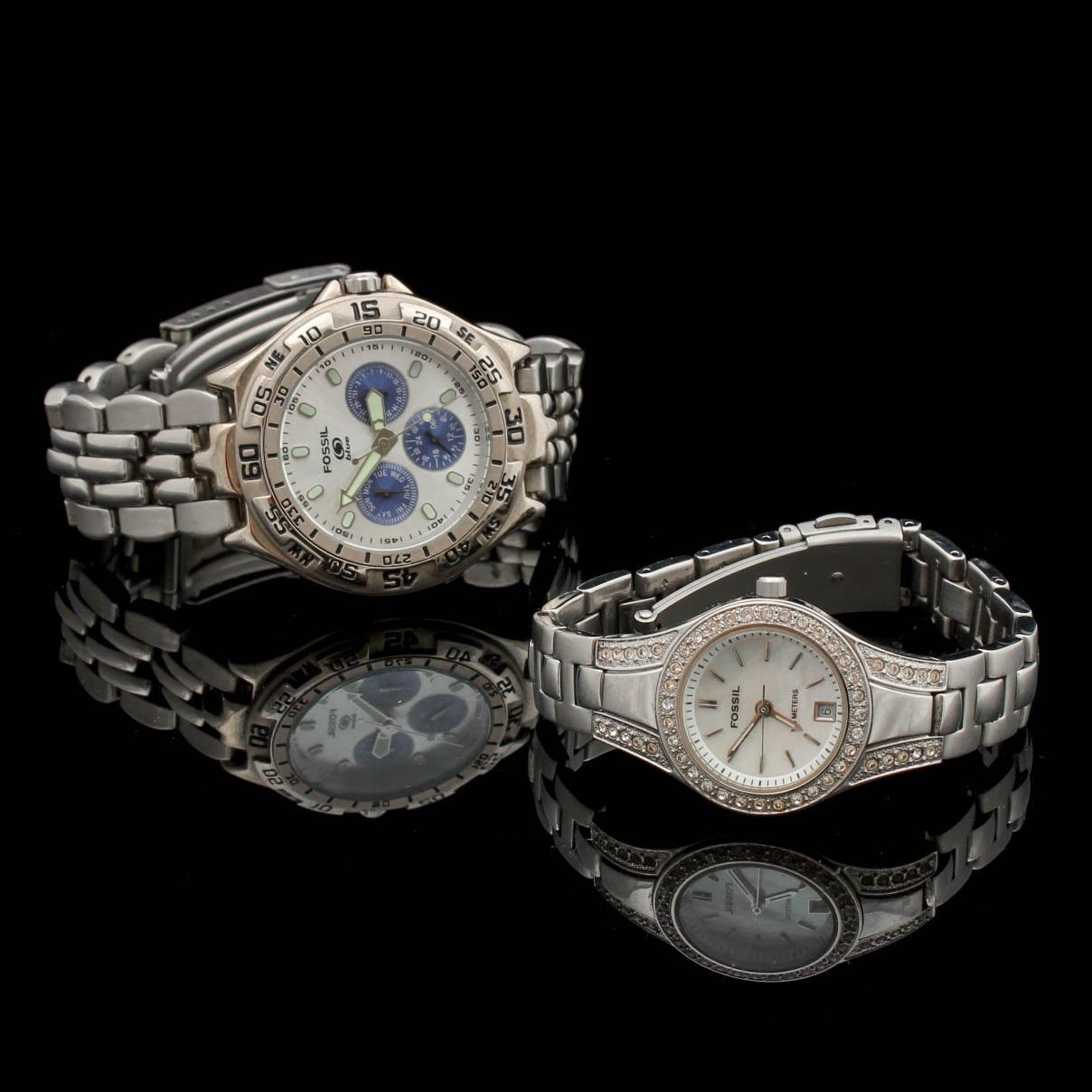 Fossil Wristwatch Pair