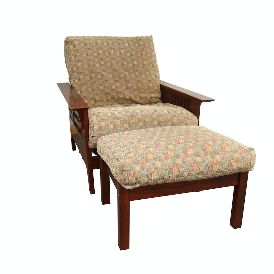 Mission Style Lounge Chair Futon And Ottoman