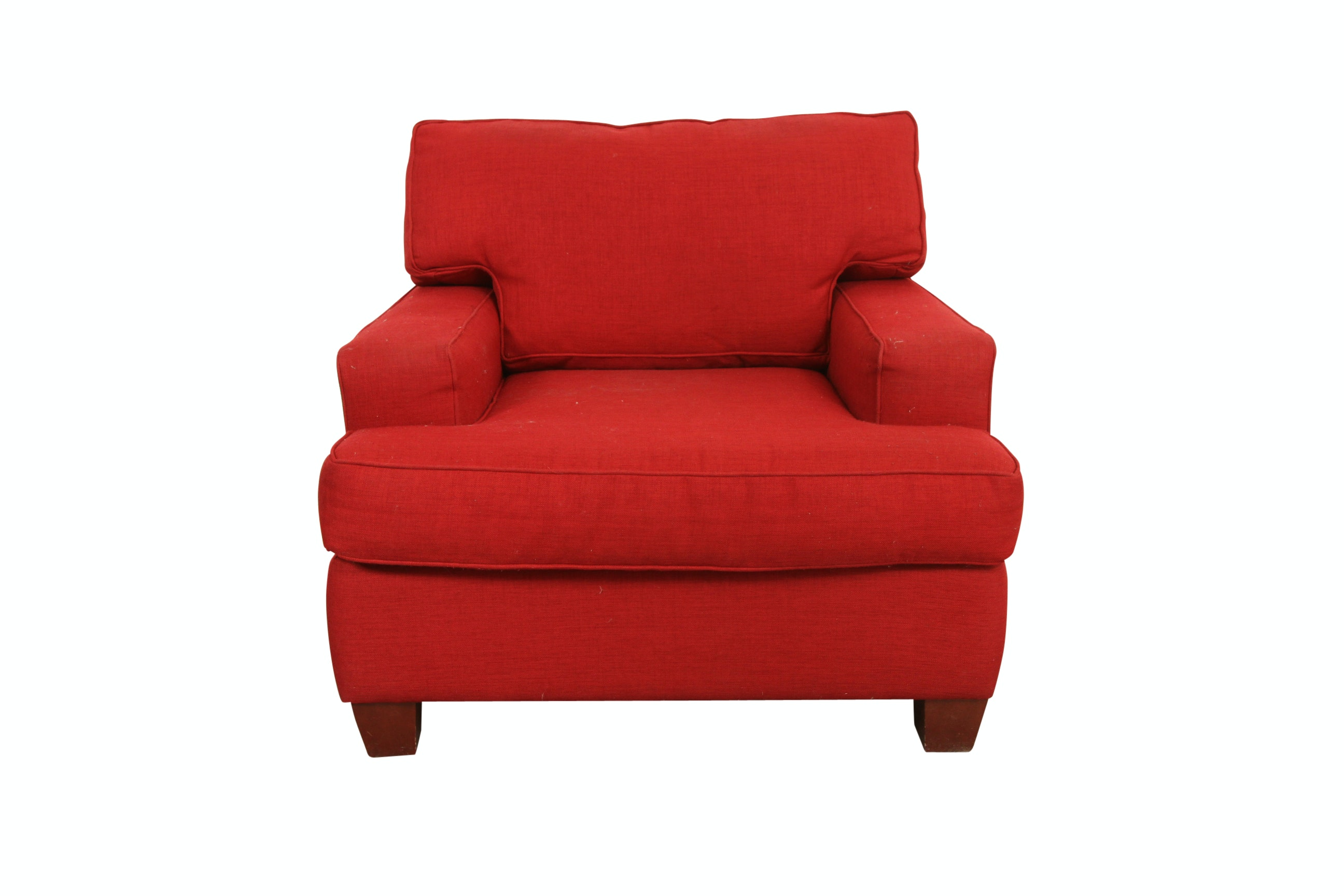 Red Upholstered Armchair By Sofa Express ...