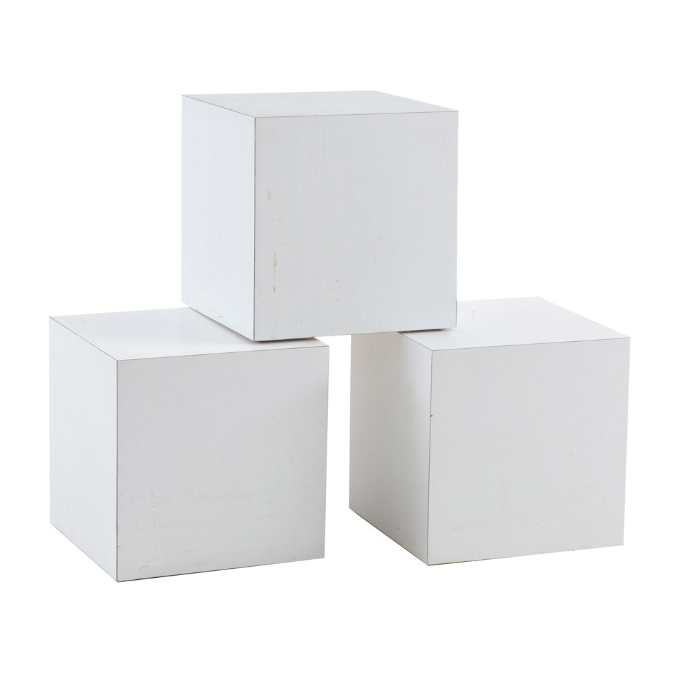 Vintage Cube Display Pedestals
