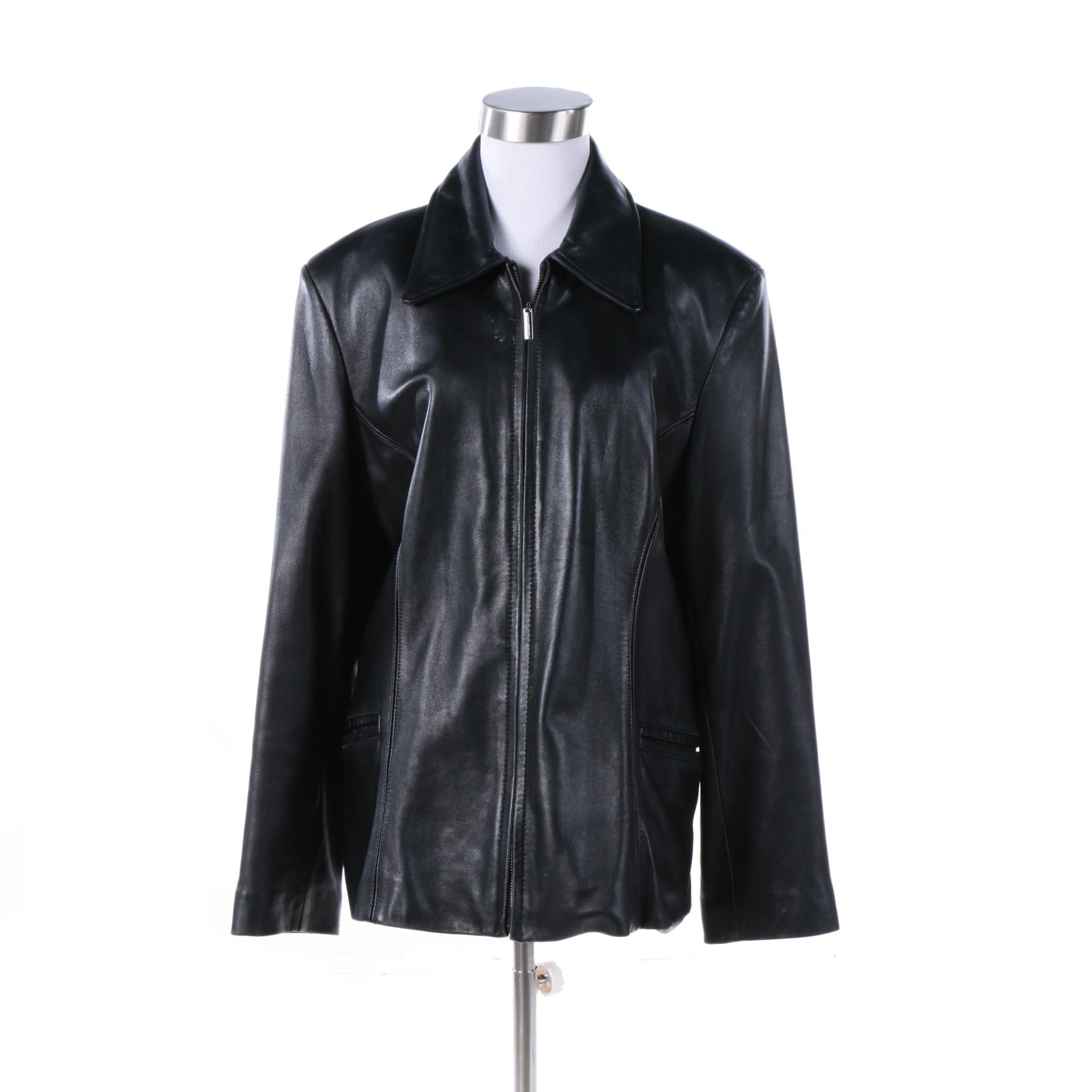 Women's Colebrook & Co. Black Leather Jacket