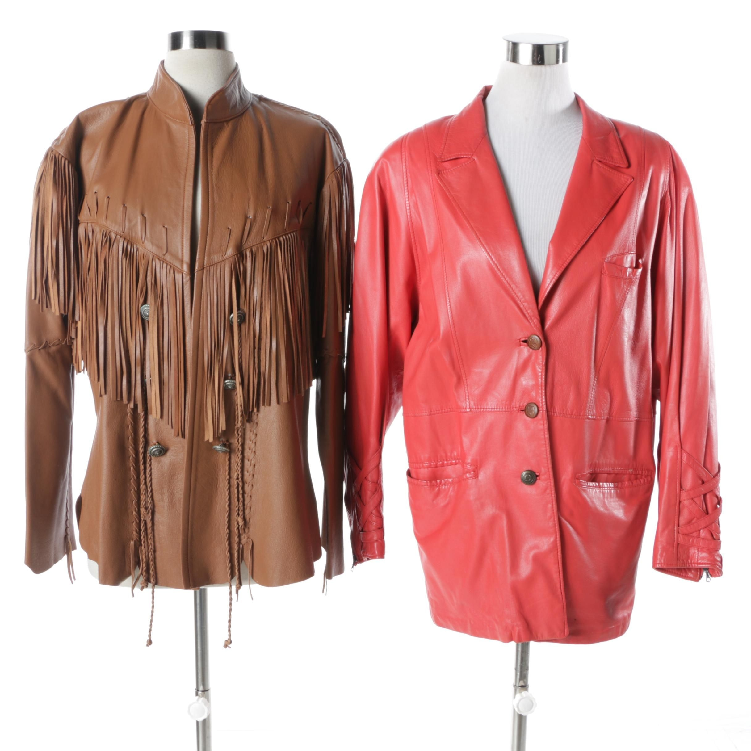 Women's Leather Jackets Including Breco's