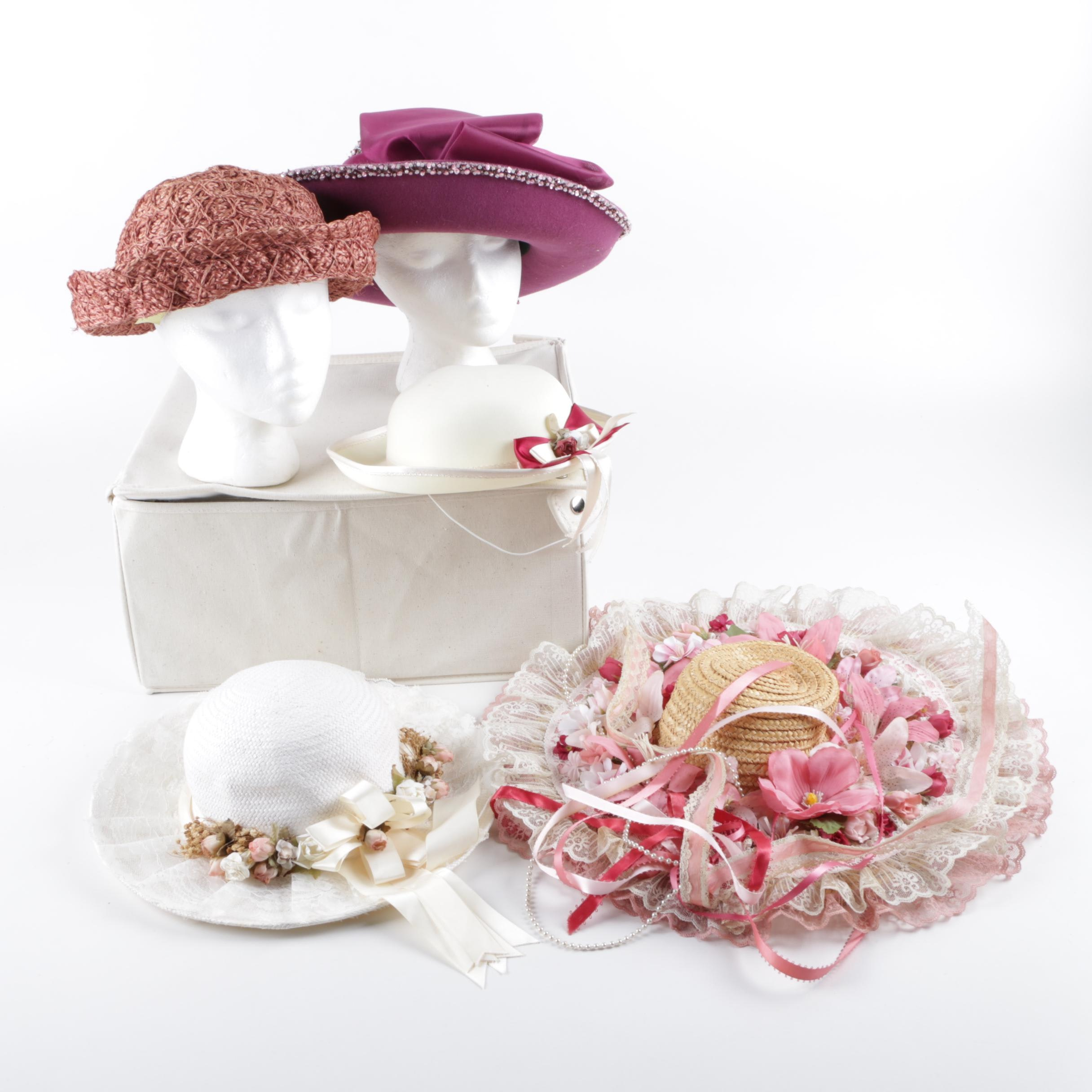Women's Vintage Hats with Whittall's & Shon
