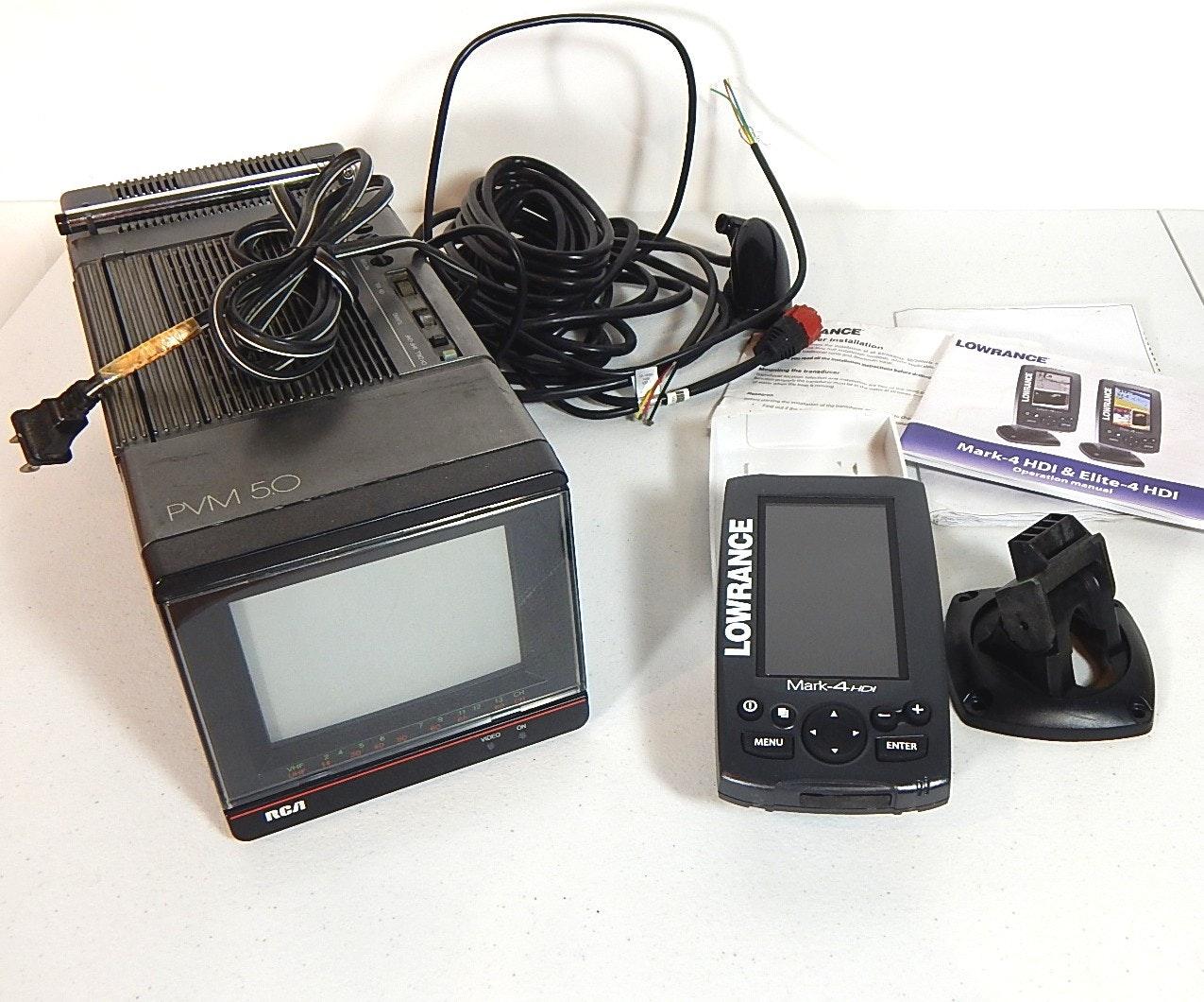 Lowrance Mark-4 HDI Fishing Sonar and RCA PVM 5.0 Monitor
