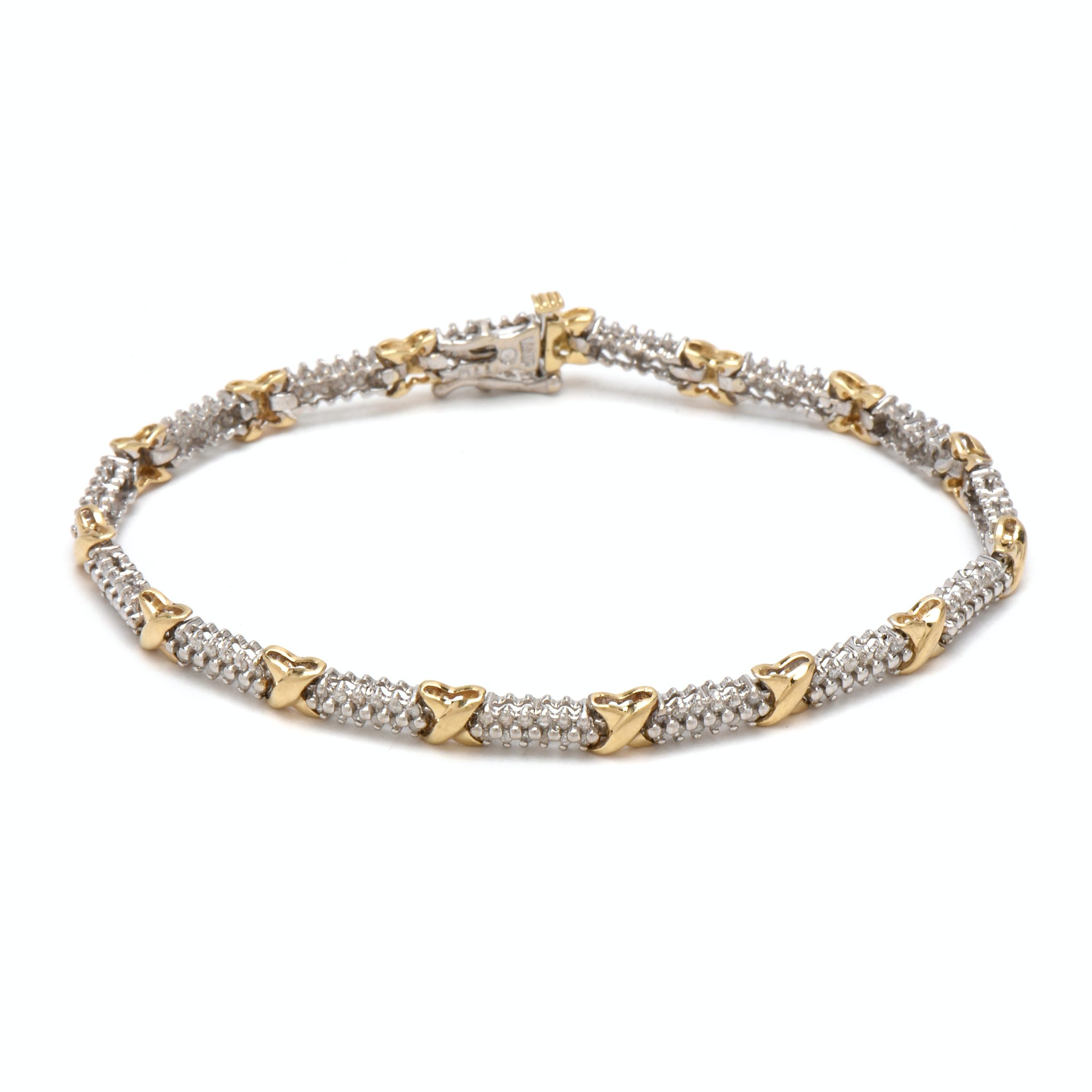 10K White Gold 1.26 CTW Diamond Linked Bracelet