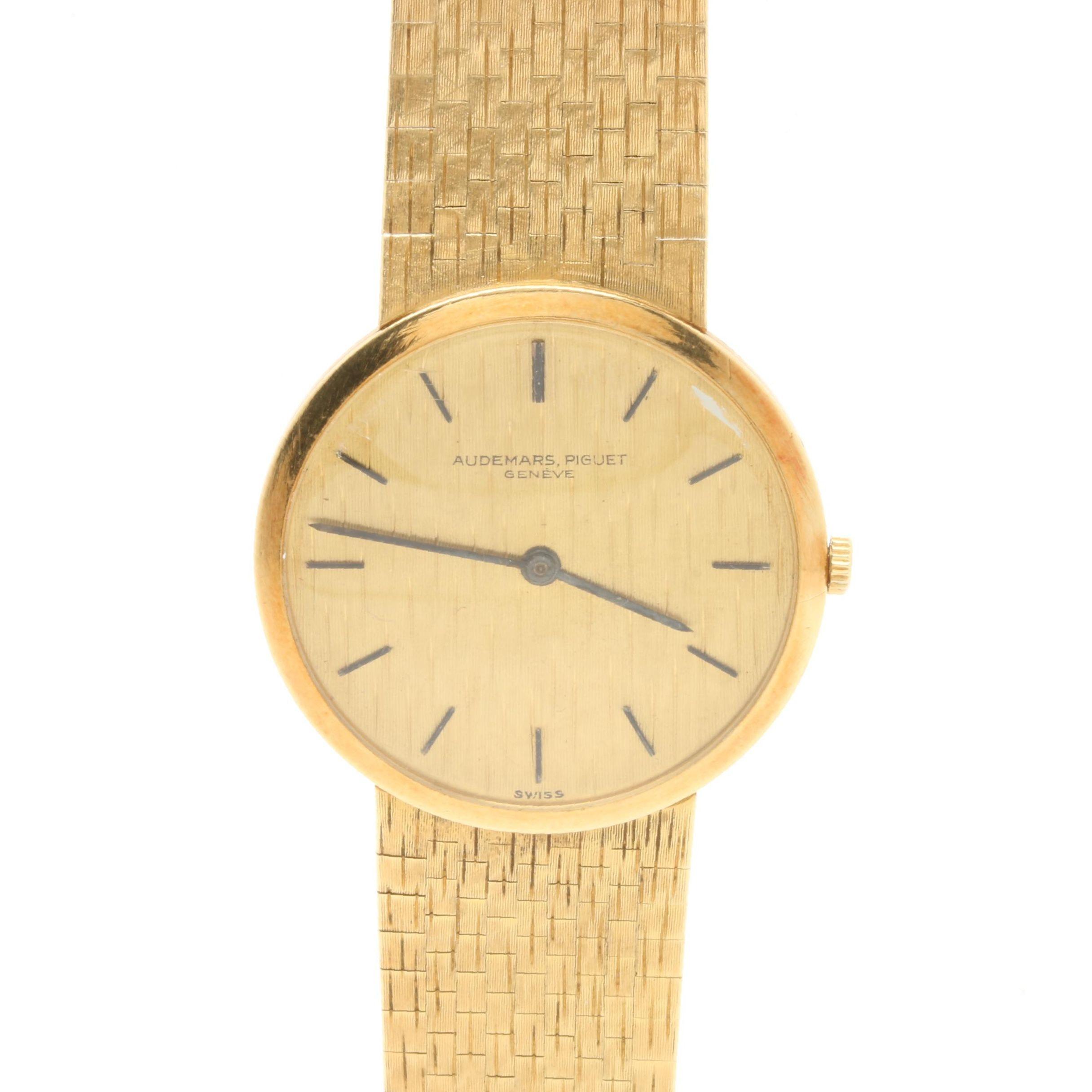 Audemars Piguet Geneve 18K Yellow Gold Stem Wind Wristwatch