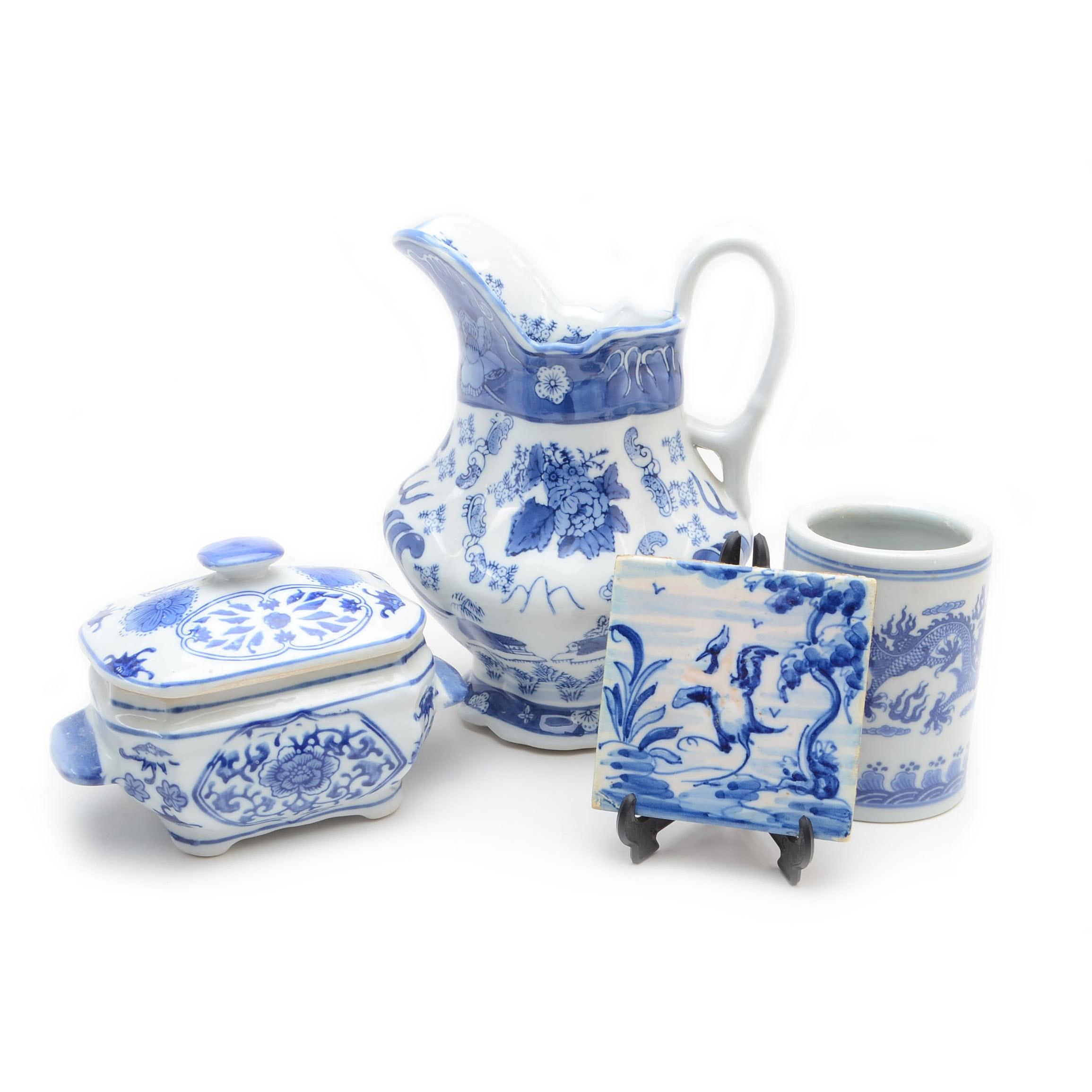 Blue and White Porcelain Decor
