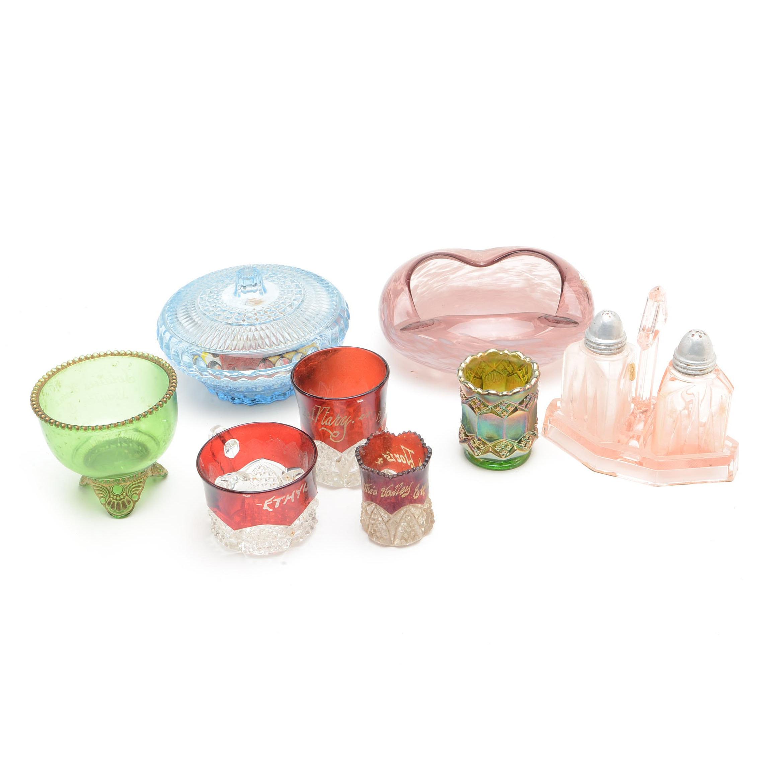 Vintage Glassware Decor