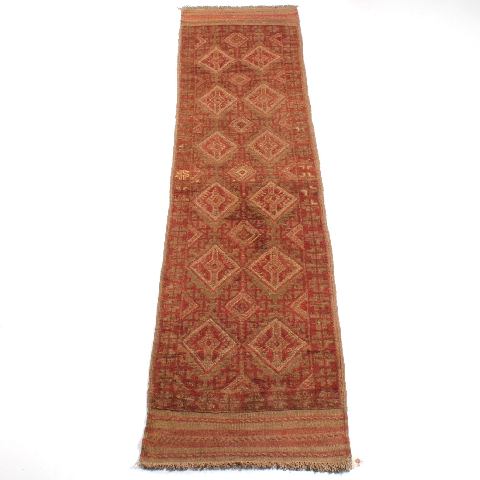 Hand-Knotted Persian Baluch Rug Runner