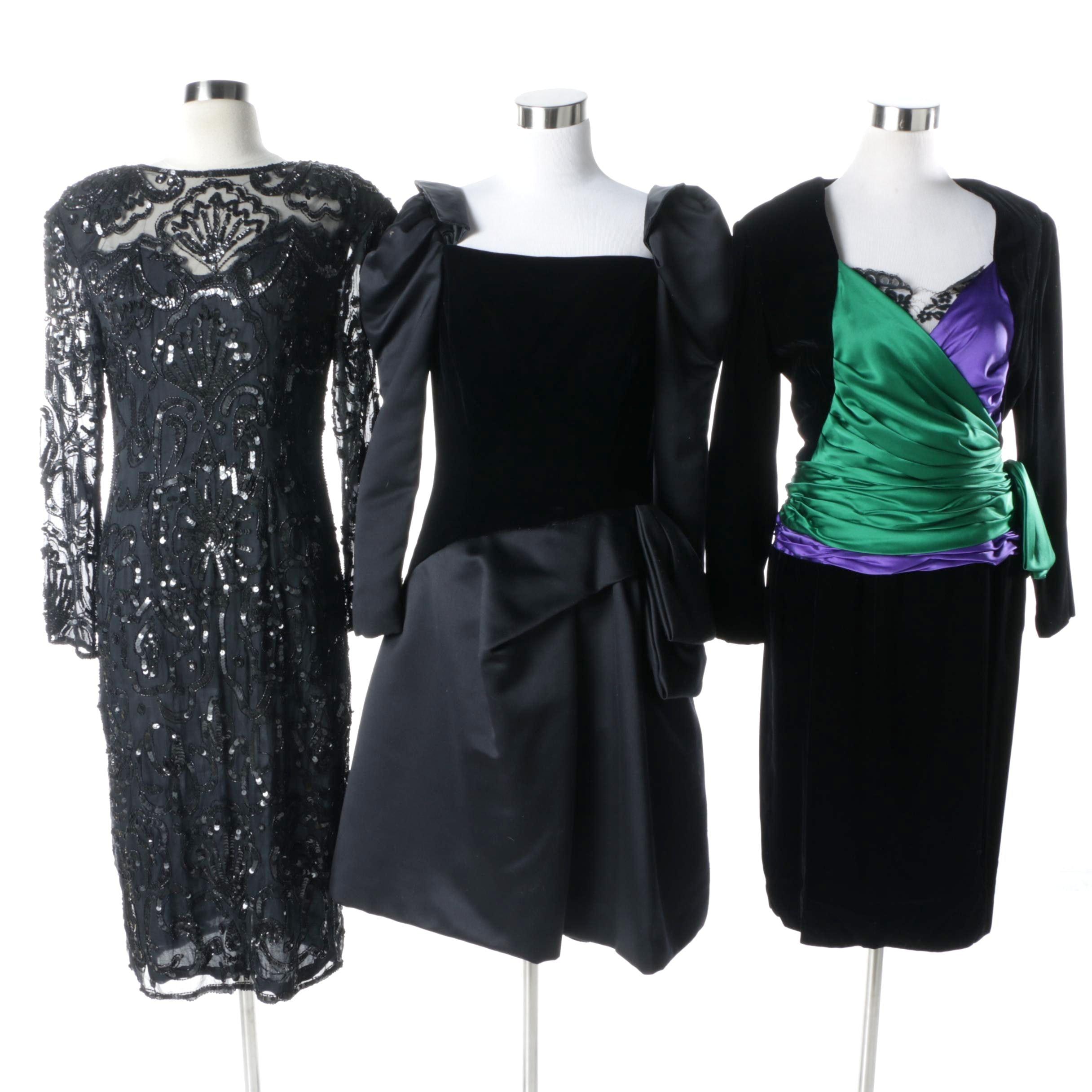 Vintage Cocktail Dresses Including Miss O by Oscar de la Renta and Victor Costa