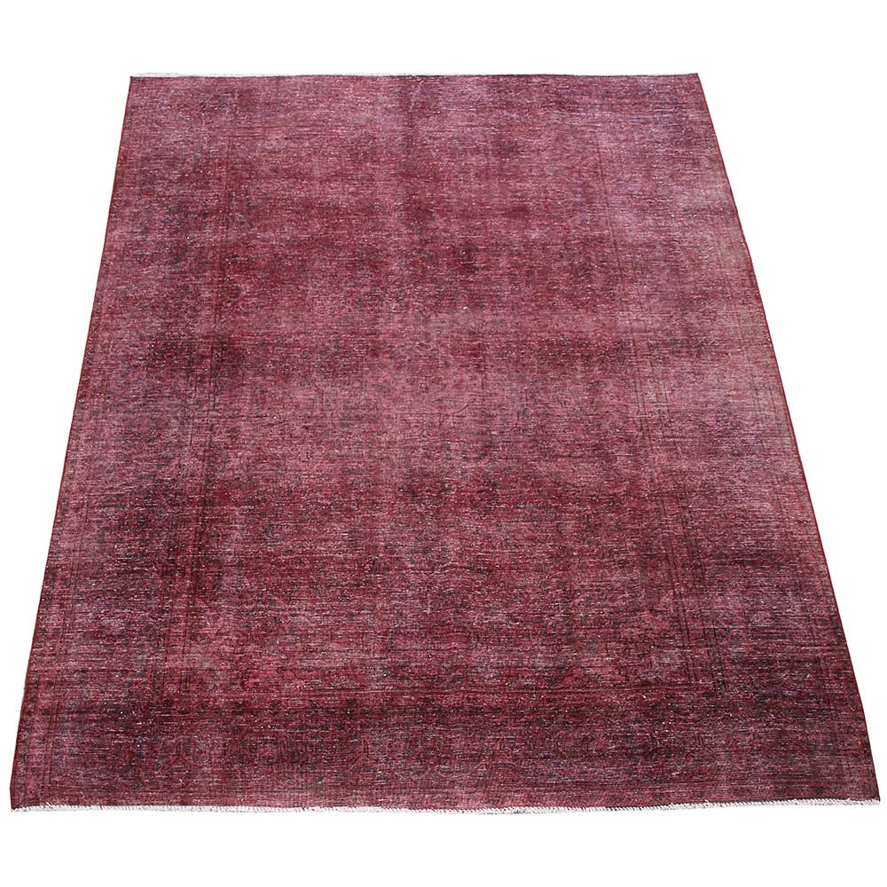 Handwoven Over-Dyed Vintage Persian Wool Area Rug
