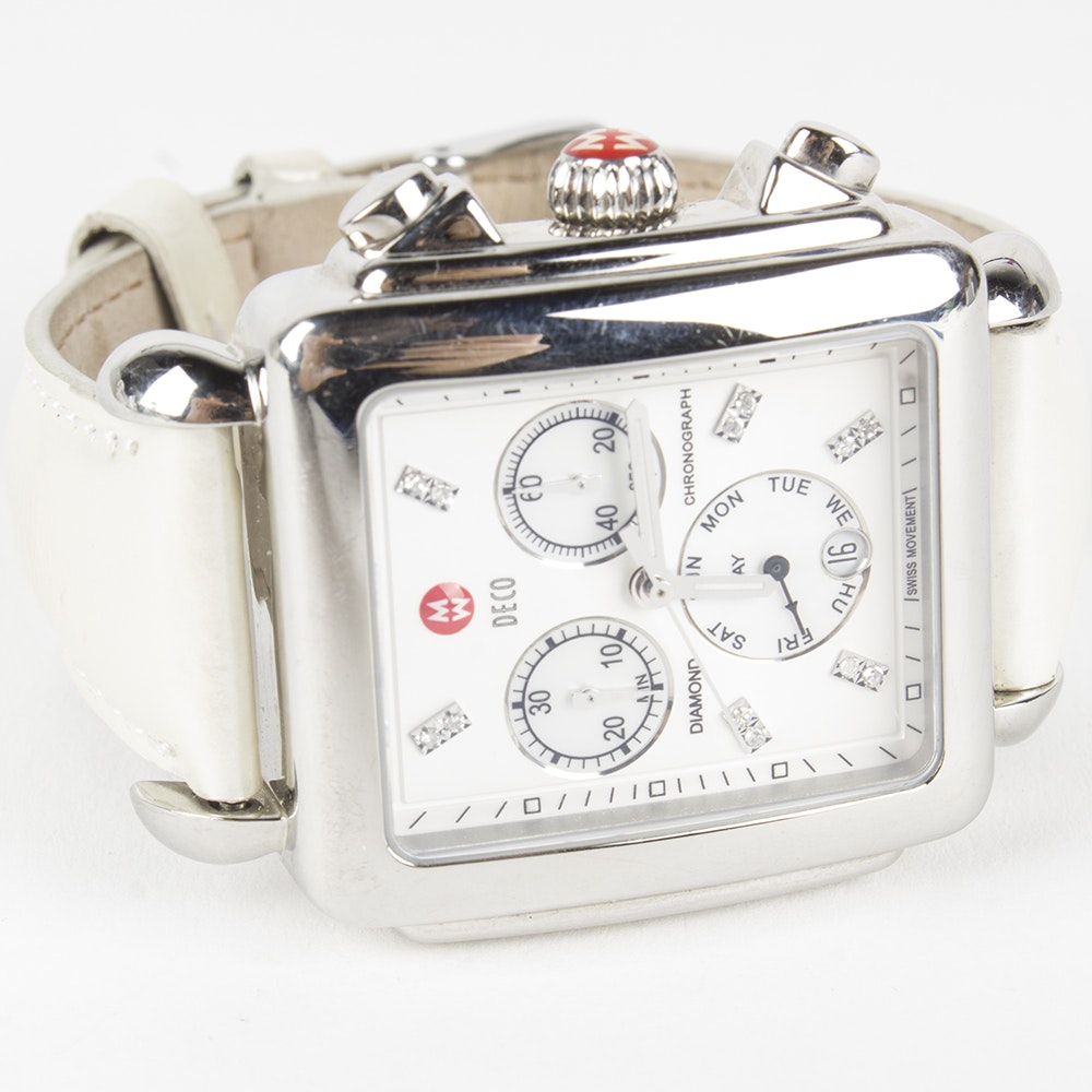 Michele Deco Diamond Chronograph Wristwatch