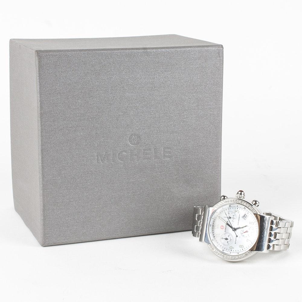 Michele Diamond Sport Chronograph Wristwatch