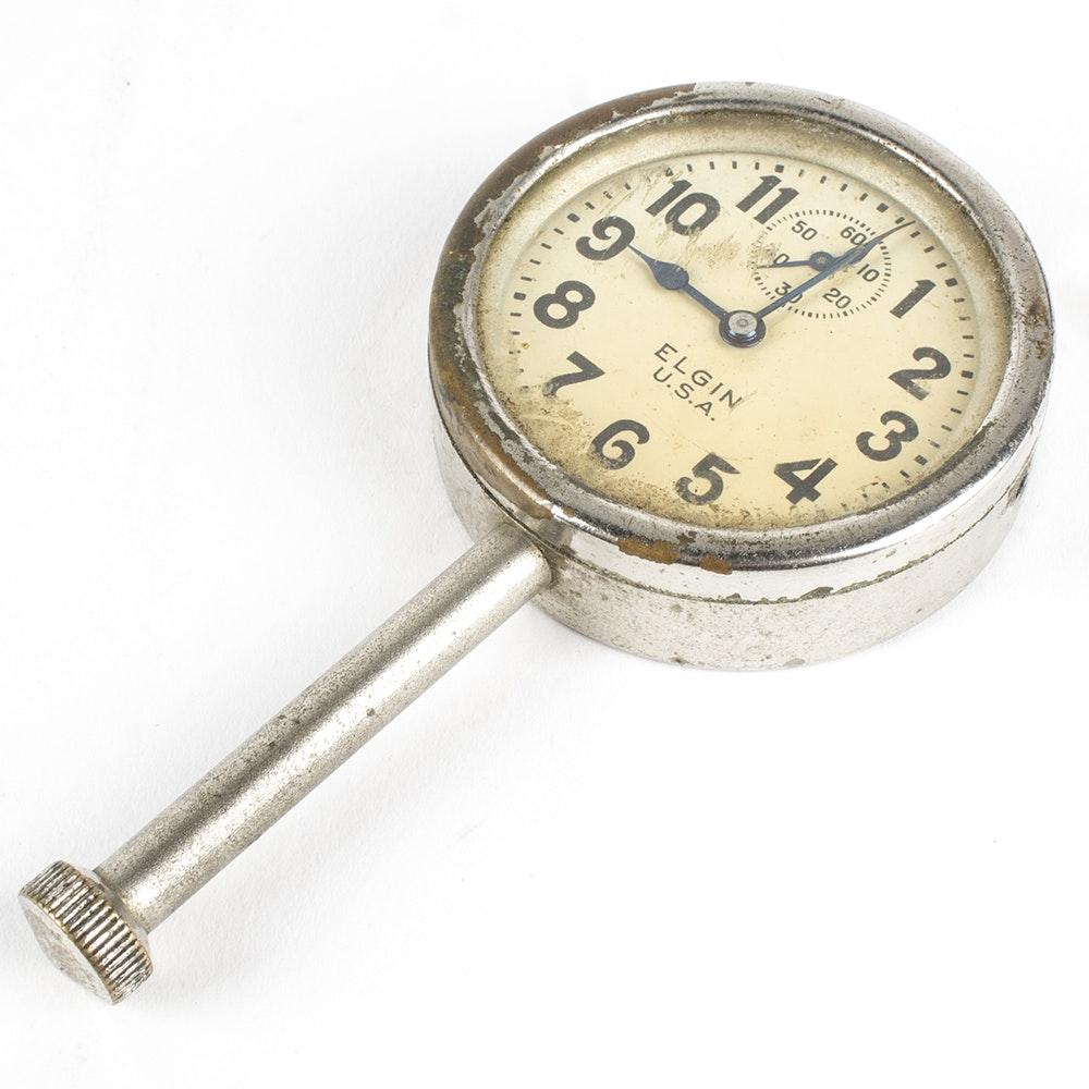 Vintage Elgin 8-Day Long Stem Car Clock Watch