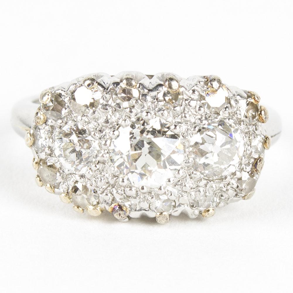 Platinum and 1.45 CTW Diamond Ring