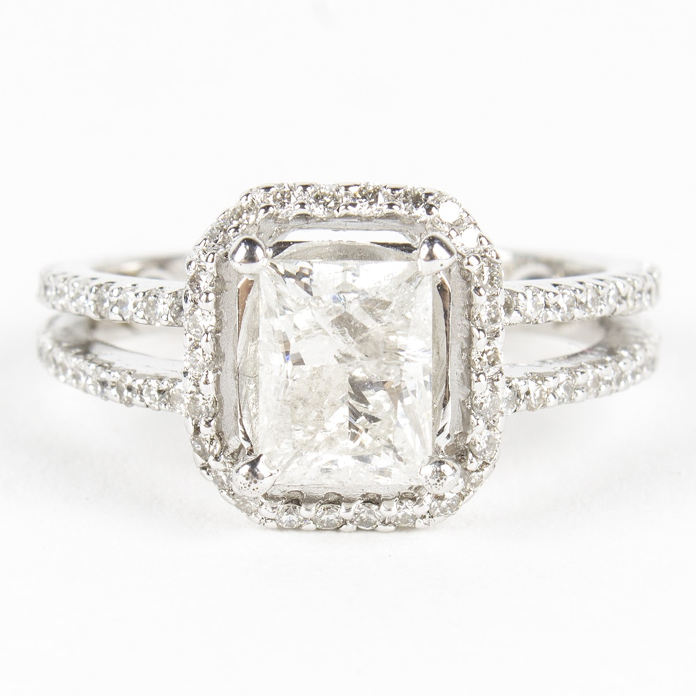 18K White Gold 1.91 CTW Diamond Ring