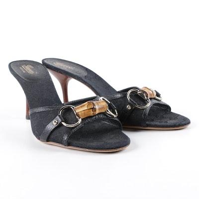 db5cf3a3346 Gucci Bamboo Horsebit High Heel Slides