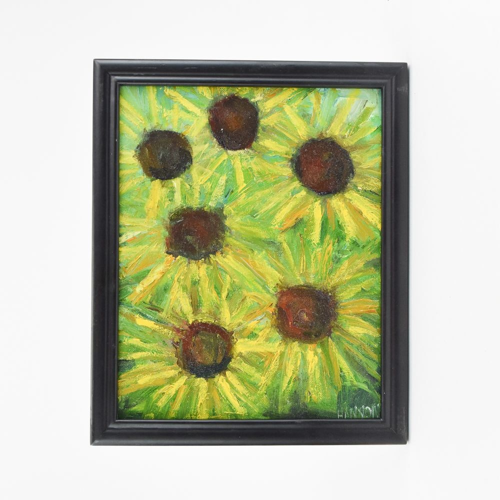 """Brian J. Hannon Contemporary Oil Painting """"Sunflowers"""""""