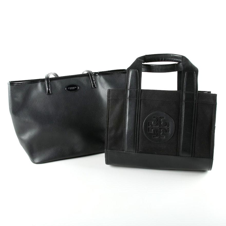 5e5ef96714 Tory Burch and Coach Black Tote Bags : EBTH