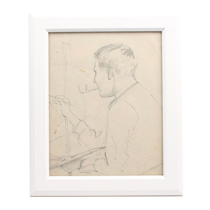 Conn Baker Graphite Drawing Portrait