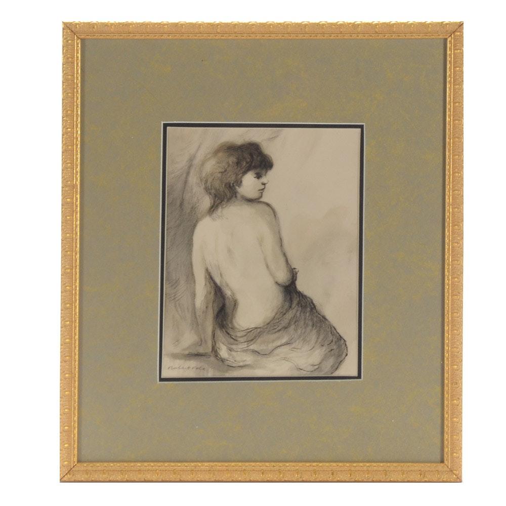 Robert Fabe Original Watercolor Figure Study Painting