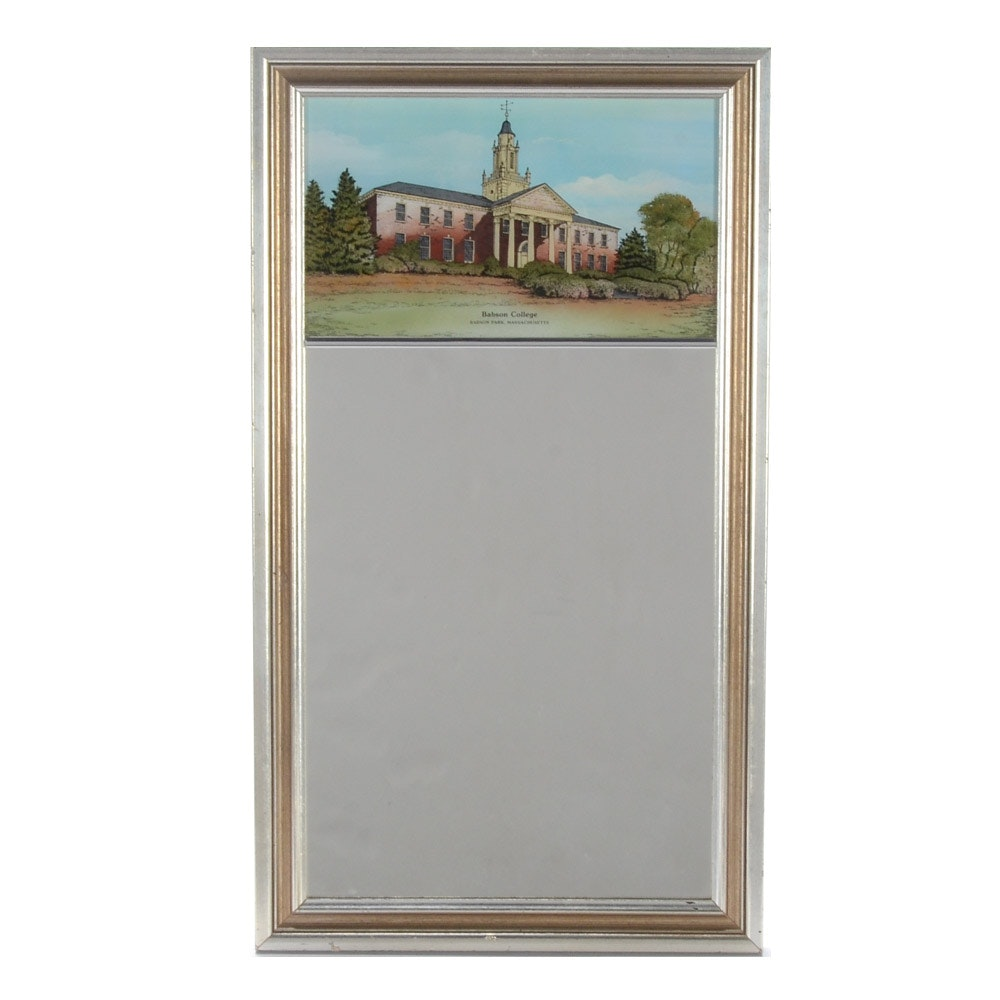 Wall Mirror with Reverse Image of Babson College