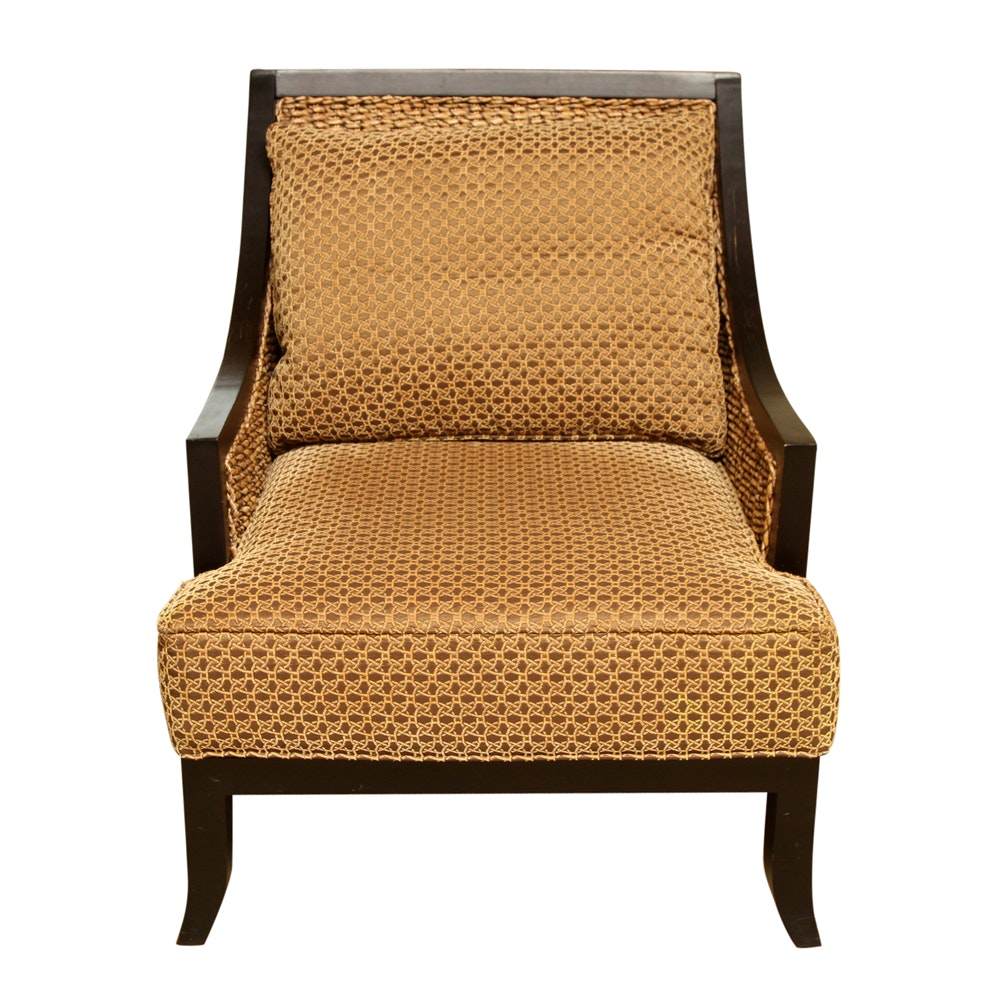 Woven Seagrass And Wood Armchair By Miles Talbott ...