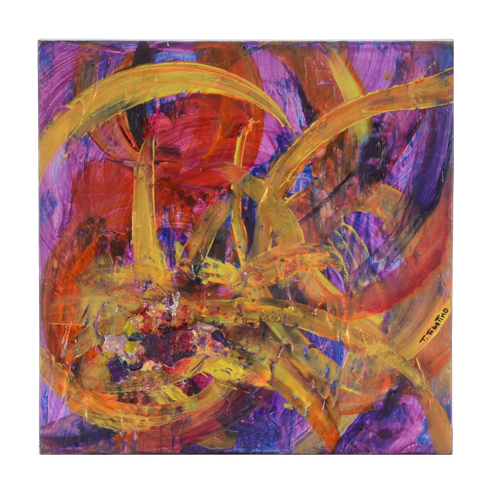 Teresa Hull Tolentino Abstract Acrylic Painting on Canvas