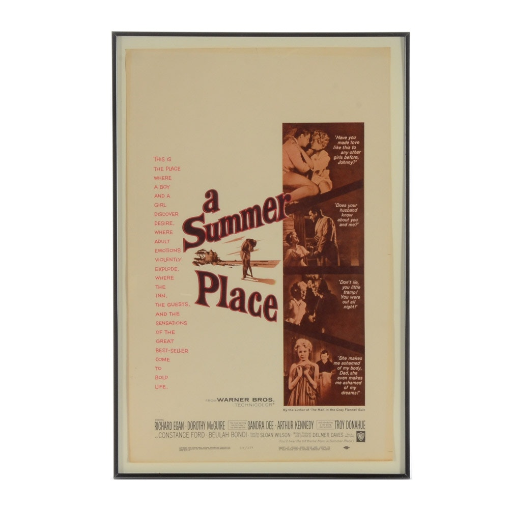 "Vintage Movie Poster for ""A Summer Place"""