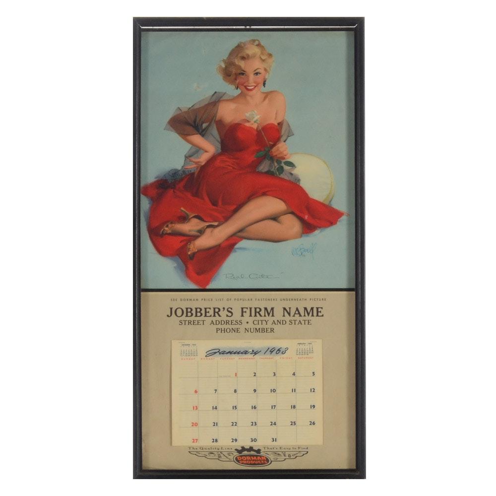 1963 Pinup Calendar Featuring Al Buell Illustration
