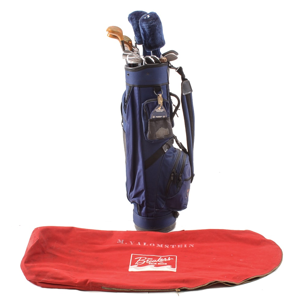 Set of Golf Clubs, Bag and Protective Cover