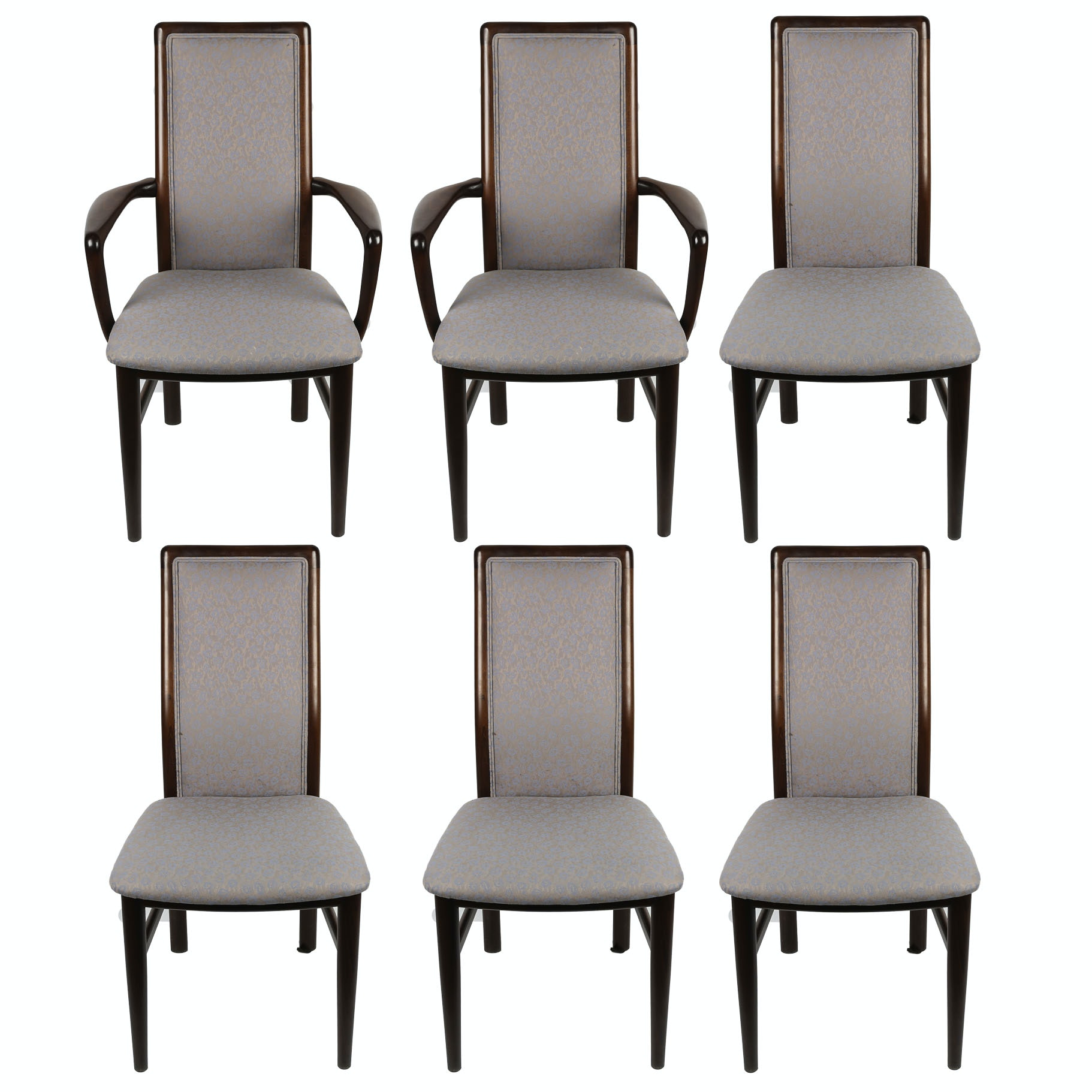 Set of Six Contemporary Upholstered Dining Chairs