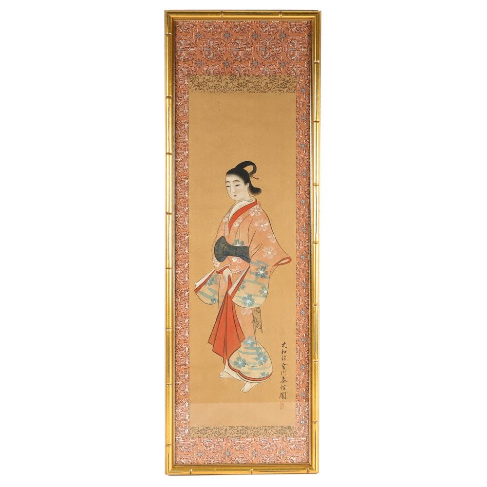 Japanese Gouache on Silk