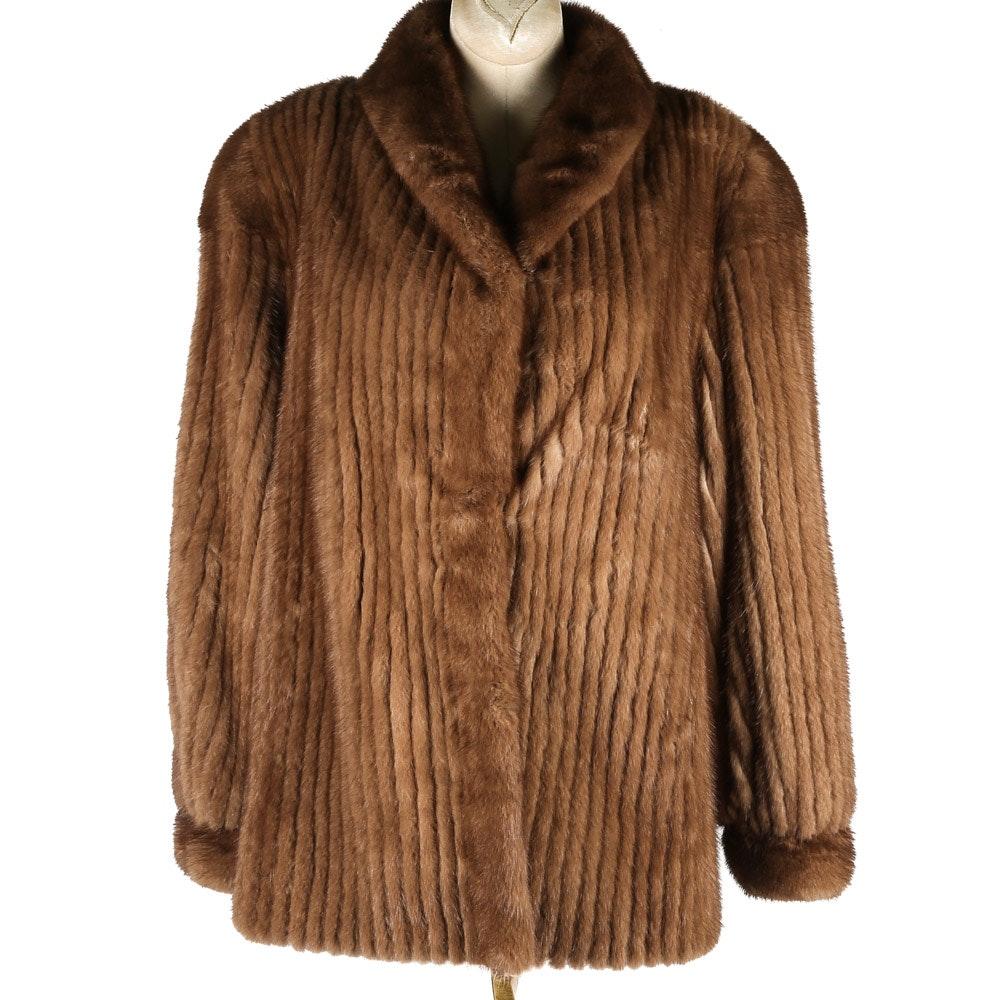 Stitched Mink Fur Coat