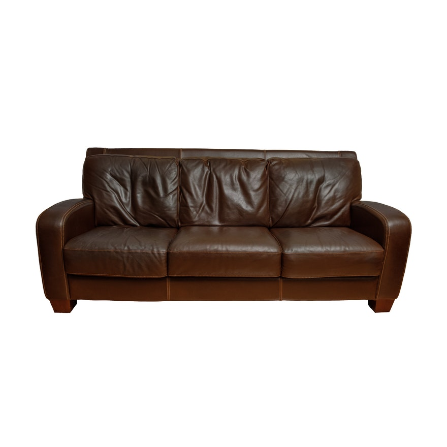 Dark brown leather sofa by divani chateau d 39 ax ebth for Divani chateau d ax offerte