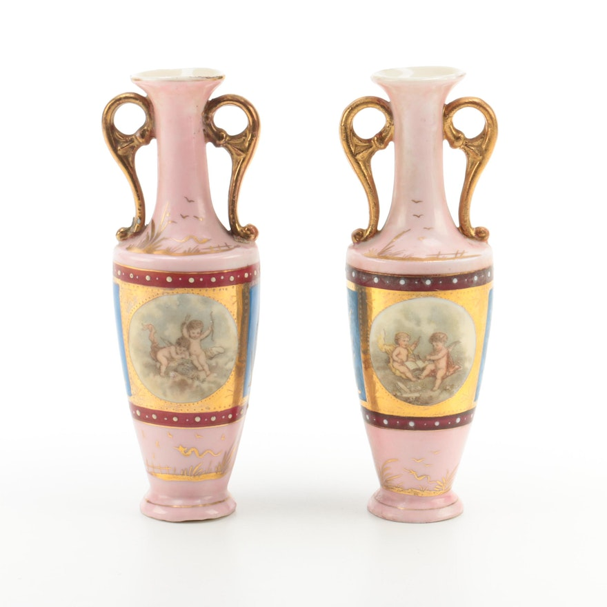 Classical Style Porcelain Vases From Austria Ebth