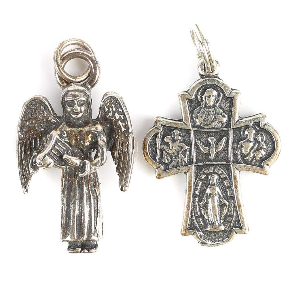 Sterling Silver Religious Pendants