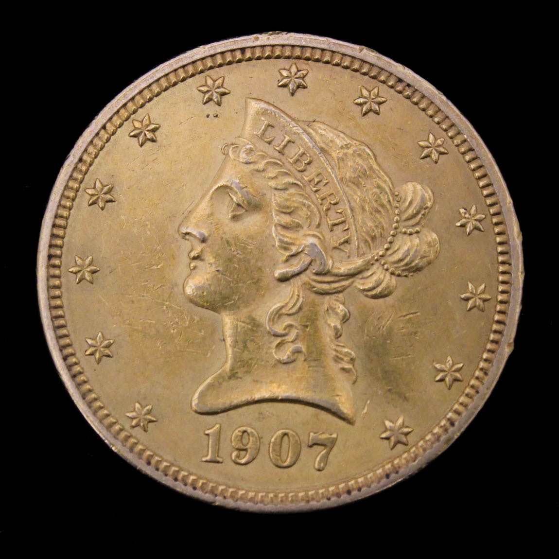 1907 Coronet Head Gold $10 Eagle