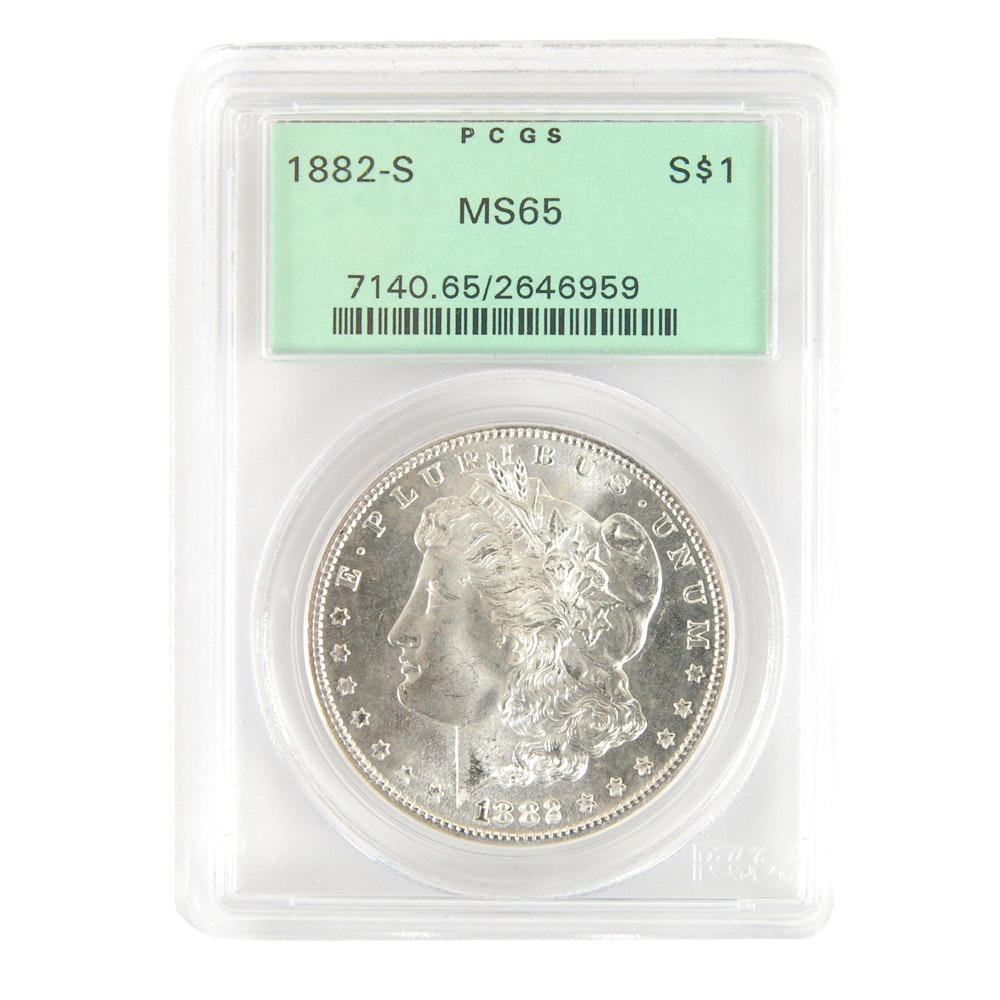 1882-S Morgan Silver Dollar MS65